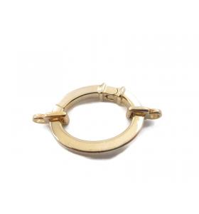 1 chiusura ovale a scomparsa grande argento 925 placcato oro giallo + 2 attacchi