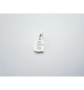 1 ciondolo charms piccola lettera G in argento 925
