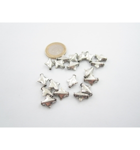 10 componenti in argentone ( argento tibetano ) della misura di 13x11 mm
