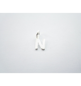 1 ciondolo charms piccola lettera N in argento 925