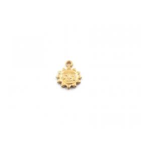 ciondolo charms sole piccolo in argento 925 placcato oro giallo misure 11 x 8,5 mm italy