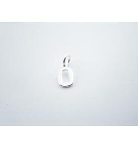 1 ciondolo charms piccola lettera O in argento 925