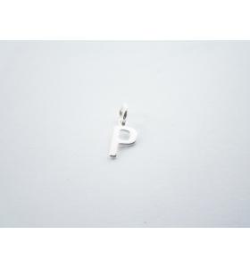 1 ciondolo charms piccola lettera P in argento 925