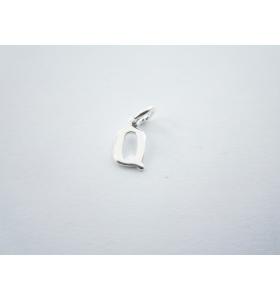 1 ciondolo charms piccola lettera Q in argento 925