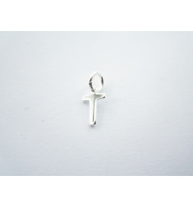 1 ciondolo charms piccola lettera T in argento 925