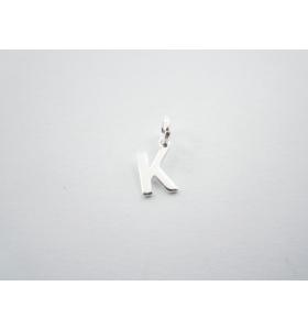 1 ciondolo charms piccola lettera K in argento 925
