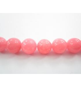 1 filo  pietre  cabochon  in agata rosa punch di 12 mm lungo 40 cm