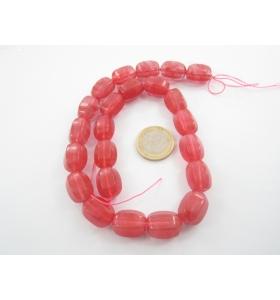 1 filo in quarzo cherry rettangoli sfaccettati 17x13 mm