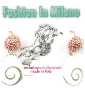 orecchini in filigrana Fashion in Milano in argento 925 placcato oro e zama