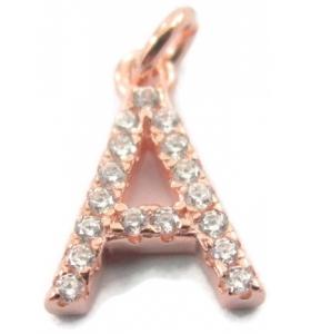 1 ciondolo charms piccola lettera  W in argento 925