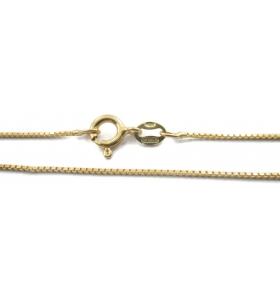1 catenina modello veneziana sottile argento 925 placcato oro giallo di 0,7x0,7 mm lunga 45 cm made italy