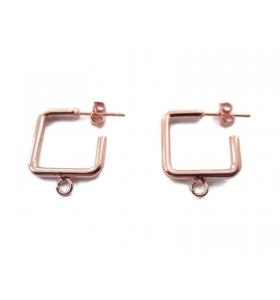 1 paio di monachelle linea pop color rosa ramato misure 16x16 mm