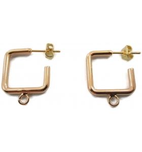 1 paio di monachelle linea pop color oro misure 16x16 mm