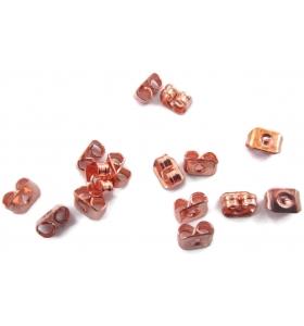 Confezione di 100 pz di farfalline ferma orecchini  color rosa ramato
