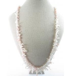 1 filo di rametti in gradazione di corallo bianco con sfumature rosa naturale cm. 49