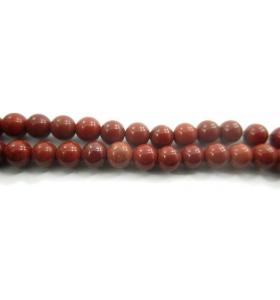 6 pietre sciolte in diaspro rosso naturale cabochon di 4,5 mm