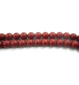 4 pietre sciolte in diaspro rosso naturale cabochon di 7 mm