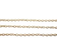 10 cm catena ovaline tonde argento 925 placcato oro giallo di 2 x 1,5 mm  made in italy