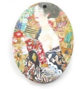 1 pendente in legno serie art Geisha 1 foro misure 38x28