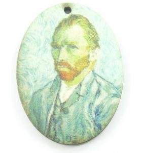 1 pendente in legno serie art VAN GOGH 1 foro misure 38x28