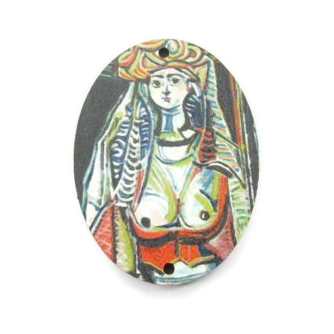 1 pendente in legno serie art   les femmes d'alger PICASSO 1 foro misure 38x28