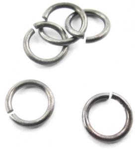 4 anellini aperti di 7 mm in argento 925 brunito