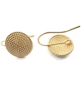 1 paio di basi orecchino la corbula sarda in filigrana d'argento 925 placcato oro giallo