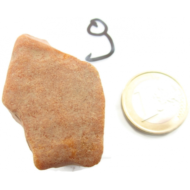 1 pezzo di ambra gialla grezza di 13,51 grammi 67,55 carati n9