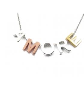 lettera iniziale B foro passante argento 925 di 8,5x8 mm