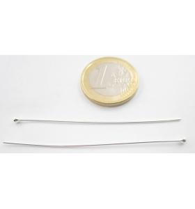 2 spilli lunghi 6 cm spessore 0,7 mm argento 925 con pallina finale di circa 2,3 mm