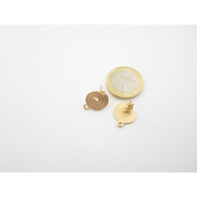 2 basi x orecchini in zama lucido e rodiato  ovale incavo di 22 x 19 mm