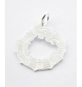 ciondolo charms il dragone in argento 925 misure 18x15 mm