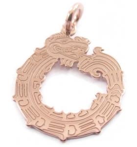 ciondolo charms il dragone in argento 925 placcato oro rosa misure 18x15 mm