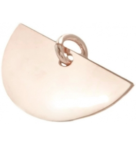 ciondolo charms ventaglio in argento 925 placcato oro rosa misure 20x10 mm