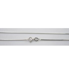 catenina argento 925 lunga 90 cm modello codina di topo quadra made in italy