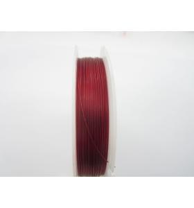40 m. cavetto acciaio rivestito colore rosso scuro metallizzato diametro 0,45 mm.
