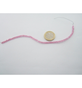 1 filo zirconi rosa sfaccettati di 2,8 x 2,5 mm lungo19 cm