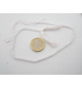 1 filo zirconi colore bianco sfaccettati di 3 x 2,5 mm lungo 29 cm