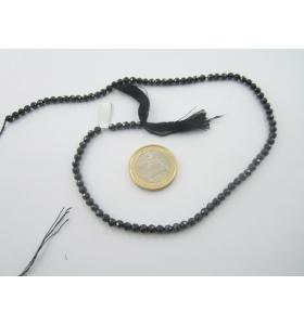 1 filo zirconi neri sfaccettati diametro 4 mm lungo34 cm