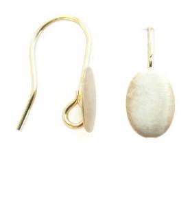 1 paio monachelle ovale graffiato  argento 925 placcato  oro giallo