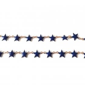 50 cm di catena stelle smaltate blu concatenato rosa