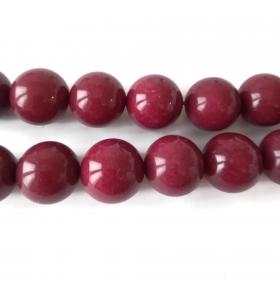 1 filo in radice di rubino cabochon di 18 mm lungo 39/40 cm contiene 22 pietre