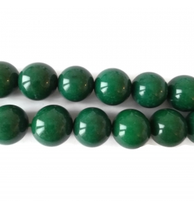 1 filo in radice di smeraldo cabochon di 18 mm lungo 39/40 cm contiene 22 pietre