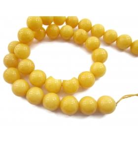 1 filo in agata gialla cabochon di 18 mm lungo 39/40 cm contiene 22 pietre