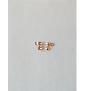 2 terminali copri nodo piccoli 3 mm argento 925 placcato oro rosa