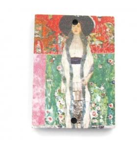 1 pendente in legno rettangolari serie art Monet 1 foro misure 34x24