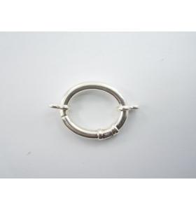 1 chiusura a scomparsa ovale di 30x24 mm in argento 925 made in italy