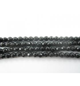 1 filo di onice nera di 4 mm sfaccettata lungo 39 cm