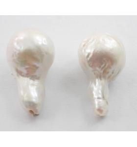 1 coppia di perle barocche australiane per orecchini coltivate in acqua di mare 2