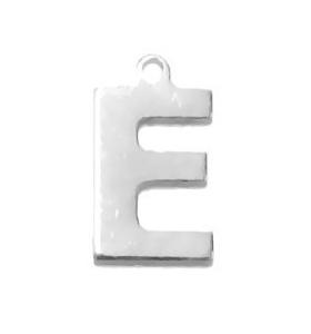 1 ciondolo charms piccola lettera E in argento 925